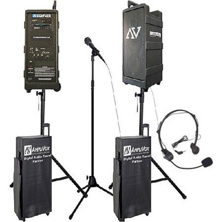 AmpliVox B9153 Premium Digital Audio Travel Partner Sound System Pack with Headset Microphone