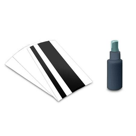 Ambir Enhanced Cleaning and Calibration Kit for Scanners, Includes Cleaning Sheet, Calibration Sheet, Bottle of Cleaning Solution