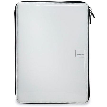 Acme Made Slick Dual-Use Case for eReader, Fully Zippered, Water and Stain Resistant, Gloss White image