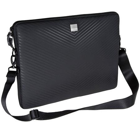 "Discount Electronics On Sale Acme Made AM00824CEU Smart Laptop Sleeve, Fits 10"" Netbook Computer, Water-resistant Ballistic Nylon, Closed-cell Foam Padding - Matt Black Chevron"