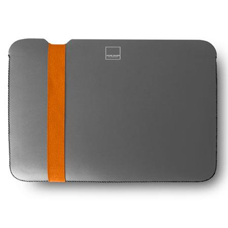 "Acme Made Skinny Sleeve for MacBook Pro 13"", Grey/Orange"