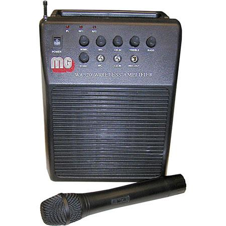 AmpliVox SW212 MityVox Rechargeable Wireless Battery Powered PA System, with Wireless Hand Held Mic & Carry Case