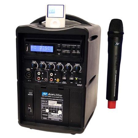 AmpliVox SW720 iPod Wireless PA System with Wireless Handheld Mic