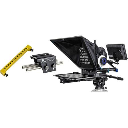 Autocue/QTV Starter Series DSLR Teleprompter Bundle for iPad, Includes Small Wide Angle Glass, Bluetooth iPad Controller, DSLR Camera Mount