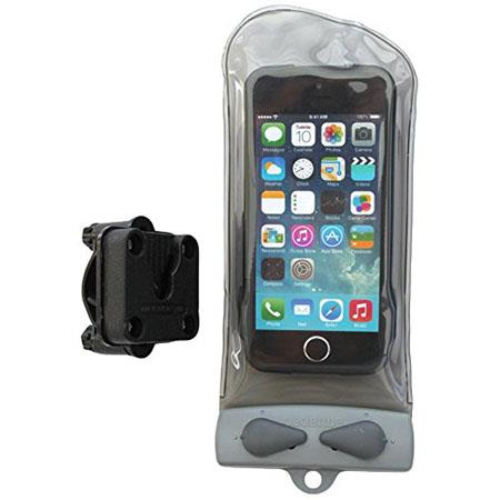 Aquapac Mini Bike-Mounted Waterproof Phone Case for All iPhones, HTC Desire, Droid Incredible 2, Motorola Droid 3, Samsung Galaxy S, Cool Gray
