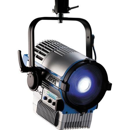 Arri L7-T Tungsten LED Fresnel, Pole Operated, 3200K Color Range, 220W Rating, Silver/Blue