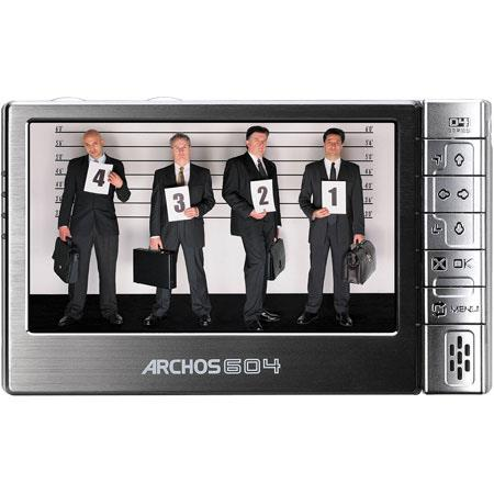 "Archos 604, 30 GB Ultra Slim Portable Multimedia Player with 4.3"" LCD Screen in 16/9 Format image"