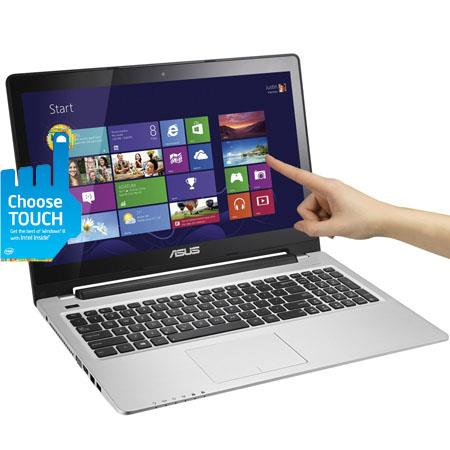"Asus VivoBook 15.6"" Multi-Touch Ultrabook Notebook Computer, Intel Core i5-3317U 1.7GHz, 6GB RAM, 500GB HDD + 24GB SSD, Windows 8 Home Premium 64-bit"