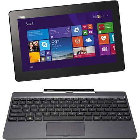 "Asus Transformer Book 10.1"" 2-in-1 HD Tablet with Keyboard Dock, Intel Atom Quad-Core Processor, 2GB RAM, 64GB SSD + 500GB HDD, Windows 8.1 + 1 Year Office 365 Personal"