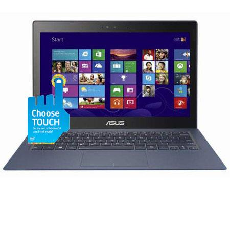 "Asus Zenbook 13.3"" QHD Touch Screen Ultrabook Computer, Intel Core i7-4558U 2.8GHz, 8GB RAM, 256GB SSD, Windows 8, Blue"