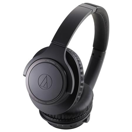 Audio-Technica ATH-SR30BT Bluetooth Wireless Closed-Back Dynamic Over-Ear Headphones with Mic, Black