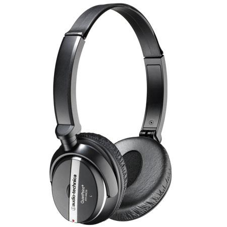 Audio-Technica ATH-ANC25 QuietPoint Active Noise-Cancelling On-Ear Headphones image