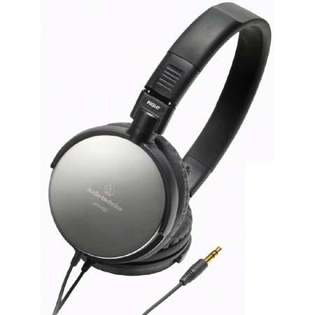 Audio-Technica ATH-ES7BK Stainless Steel, Portable, Folding Headphones 42 mm Driver Diameter, Color: Black image