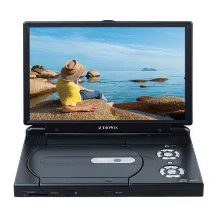 """Audiovox 10.2"""" (16:9) Slim Line Portable DVD/CD Player Kit With Built-in Stereo Speakers and Remote image"""