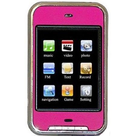 "Avera Digital 8GB 2.8"" TFT Touch Screen MP4 Player, Pink image"