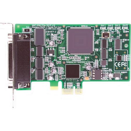 Axxon EPP/ECP Parallel Port + Dual RS232 Serial PCI Express Controller Card
