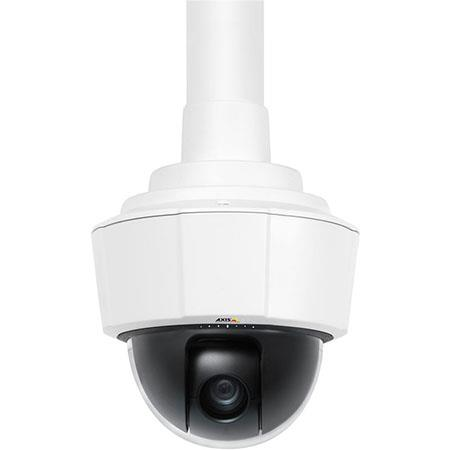 Axis Communications P5512 PTZ Dome Network Camera, f3.8-46mm Lens, 12x Optical/4x Digital Zoom, 360 Deg Pan with Auto-Flip, 704x480 Resolution at 30/25 fps, H.264/Motion JPEG Streams, PoE