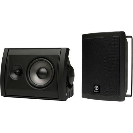 "Boston Acoustics Voyager 40 2-Way 4.5"" High Performance Outdoor Speakers, Pair, Black"
