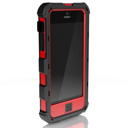Ballistic Hard Core (HC) Case for iPhone 5, Black/Red