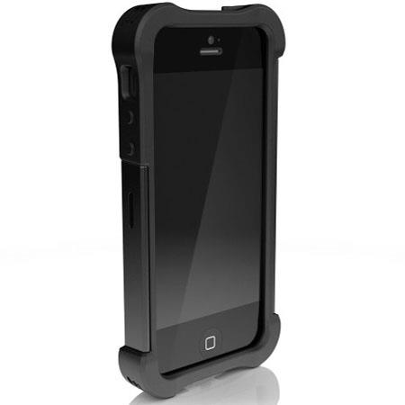 Ballistic Shell Gel Maxx Case for iPhone 5, Black/Black