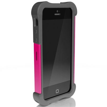 Ballistic Shell Gel Maxx Case for iPhone 5, Charcoal/Raspberry