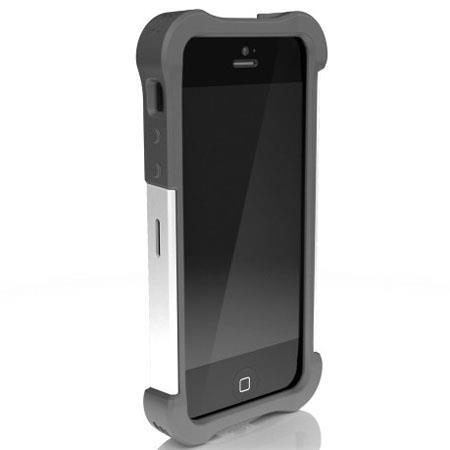 Ballistic Shell Gel Maxx Case for iPhone 5, Charcoal/White