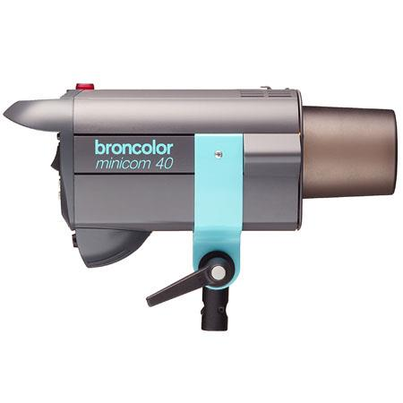 Broncolor Minicom 40 Multi-Voltage 300 watt second Fan Cooled Monolight, for 230V or 120V, with Flash Tube & Protective Cap
