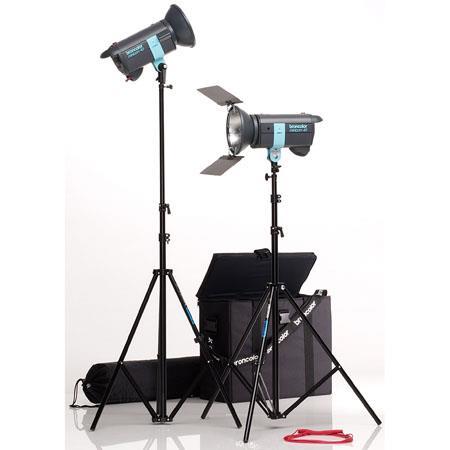 Broncolor Minicom Travel Monolight Kit, with Two 300 Ws Minicom 40 Monolights Optimized for 230V or 120V, Light Stands & Travel Bag.