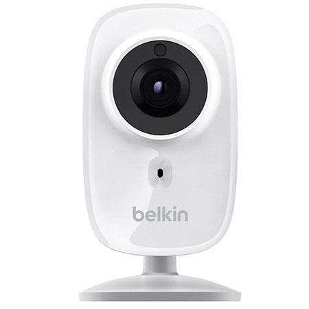 Belkin WeMo HD NetCam Wi-Fi Camera with 26' Night Vision, 3.37mm f/2.4 Lens, 1280x720 Resolution