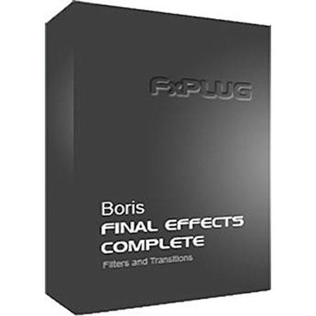 Boris FX Final Effects Complete 5 FxPlug Crossgrade for Users of BCC or Previous Versions of FEC Mac (Download)