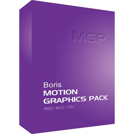 Boris FX Motion Graphics Pack for Adobe CS5.x/CS4 Mac (Download), Over 200 Plug-in Filters, Supports OpenGL Hardware Acceleration