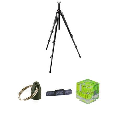 Manfrotto 055XPRO3 Black Tripod Legs Kit, with Adorama Tripod Case, Double Bubble Level, Tripod Hanger
