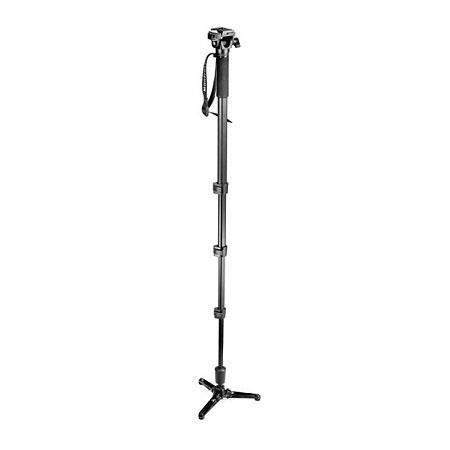 Bogen - Manfrotto Four Section Fluid Monopod #560B with 3229 Tilt Top Head image