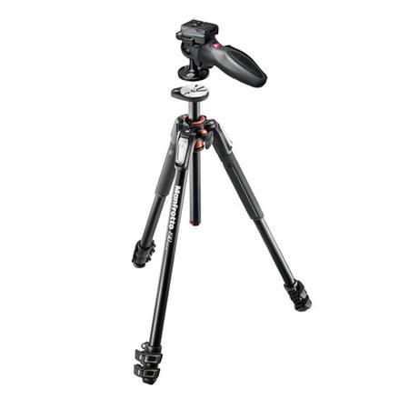 Manfrotto MT190 Aluminum 3-Section Tripod with Horizontal Column, - Bundle With Manfrotto 324RC2 Joystick Head