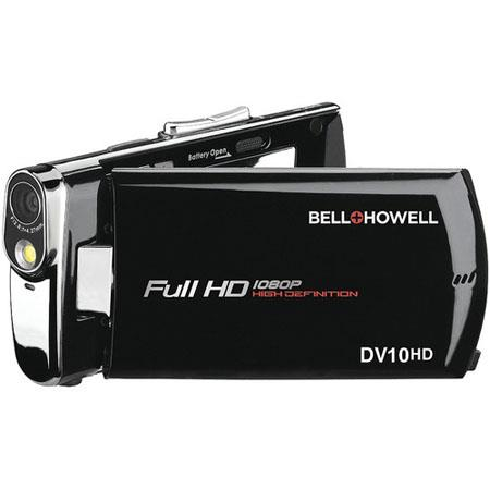 "Bell & Howell Slice DV10HD Full HD Digital Camcorder, 16MP, 3"" LCD Display, 4x Digital Zoom, 1920 x 1080p Resolution, Black"