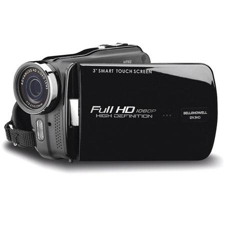 "Bell & Howell DV3HDZ High-Definition 1080p Slim Camcorder, 16MP, 4x Digital Zoom, 3"" LCD Display, Built-In LED Video Light, Black"
