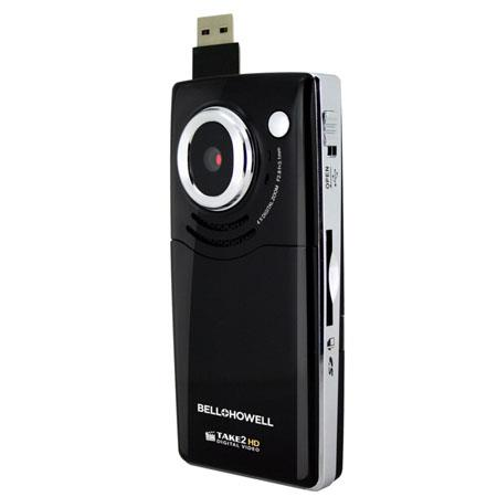 "Bell+Howell Take-2HD High Definition Digital Video Flip Camcorder, 5MP, 1280x720p, 4x Digital Zoom, 2"" LCD Screen, Black"