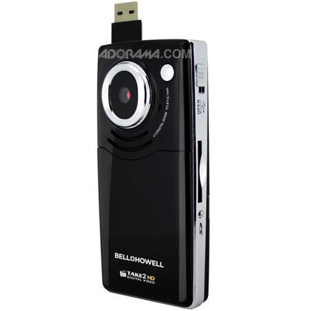 Bell & Howell Take 2 Digital Camcorder with 1280x720p HD Video, 4x Digital Zoom, Black