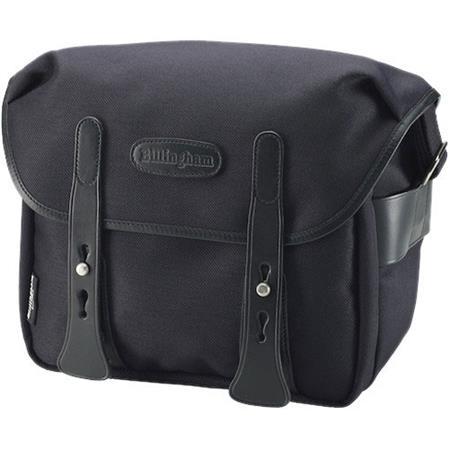 Billingham f/Stop 2.8 Camera Bag, Black FiberNyte with Black Leather Trim BI 505702 01