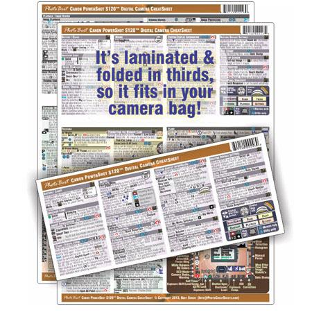 PhotoBert Photo CheatSheet for Canon PowerShot S120 Digital Camera