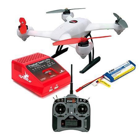 Blade 200 QX BL Quadcopter - Bundle With Spektrum DX6i 6-Channel DSMX Transmitter, 2X 800mah Lipo JST Battery, Prophet Li-Po 35W AC Charger