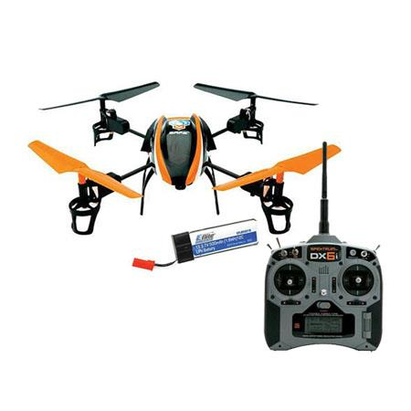 Blade 180 QX HD RTF Ready-to-Fly Quad-Copter with E-Flite EFC-721 Camera, SAFE Technology - Bundle With 2x Spare 500mAh 1S 3.7V 25C LiPo Battery for Blade, Spektrum DX6i 6-Channel DSMX Transmitter