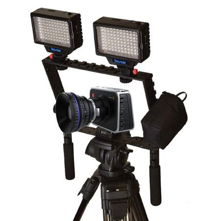 Bescor Dual Light Package for Blackmagic Cinema Camera, with 2 LED-70 Lights, Extended Camera Battery and Camera Bracket