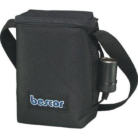 Bescor 9 Amp Shoulder Battery Pack with Cigarette Socket Output, with Automatic Charger.