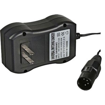 Bescor Automatic Shut-Off 4 Pin XLR Charger for the NMH-54XLR, NMH65V and NMH65 Battery Packs.