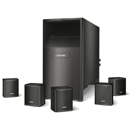 Bose Acoustimass 6 Series V Home Theater Speaker System, Includes 5x Virtually Invisible Series II Cube Speaker, Powered Acoustimass Module, Power cord