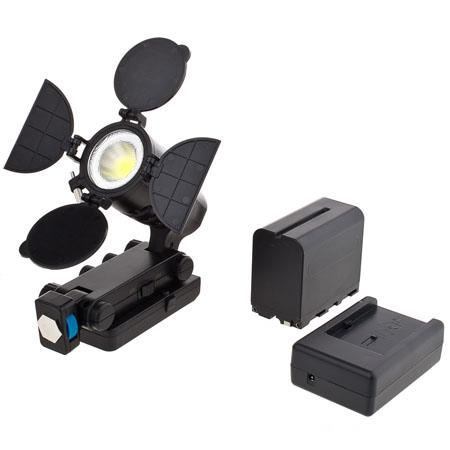 Bower Digital Professional On Camera 15W LED Light with Barn Doors