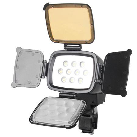 Bower Digital Professional On Camera 12W LED Light with Barn Doors