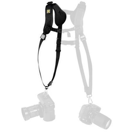 BlackRapid Double Slim Right Strap, Carries 2 Cameras or Lenses Vertically, Black