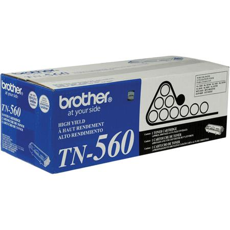 Brother TN560 Standard Black Toner Cartridge, Approximate 6,500 Page Yield image